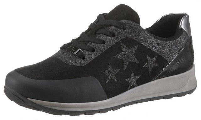 ara -  Keilsneaker mit Glitter-Sterne, in bequemer Schuhweite H