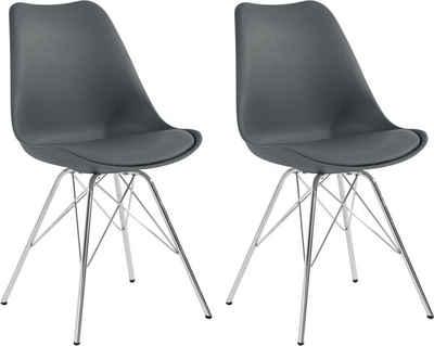 Homexperts Esszimmerstuhl »Ursel 03« (Set, 2 Stück), Sitzschale mit Sitzkissen in Kunstleder