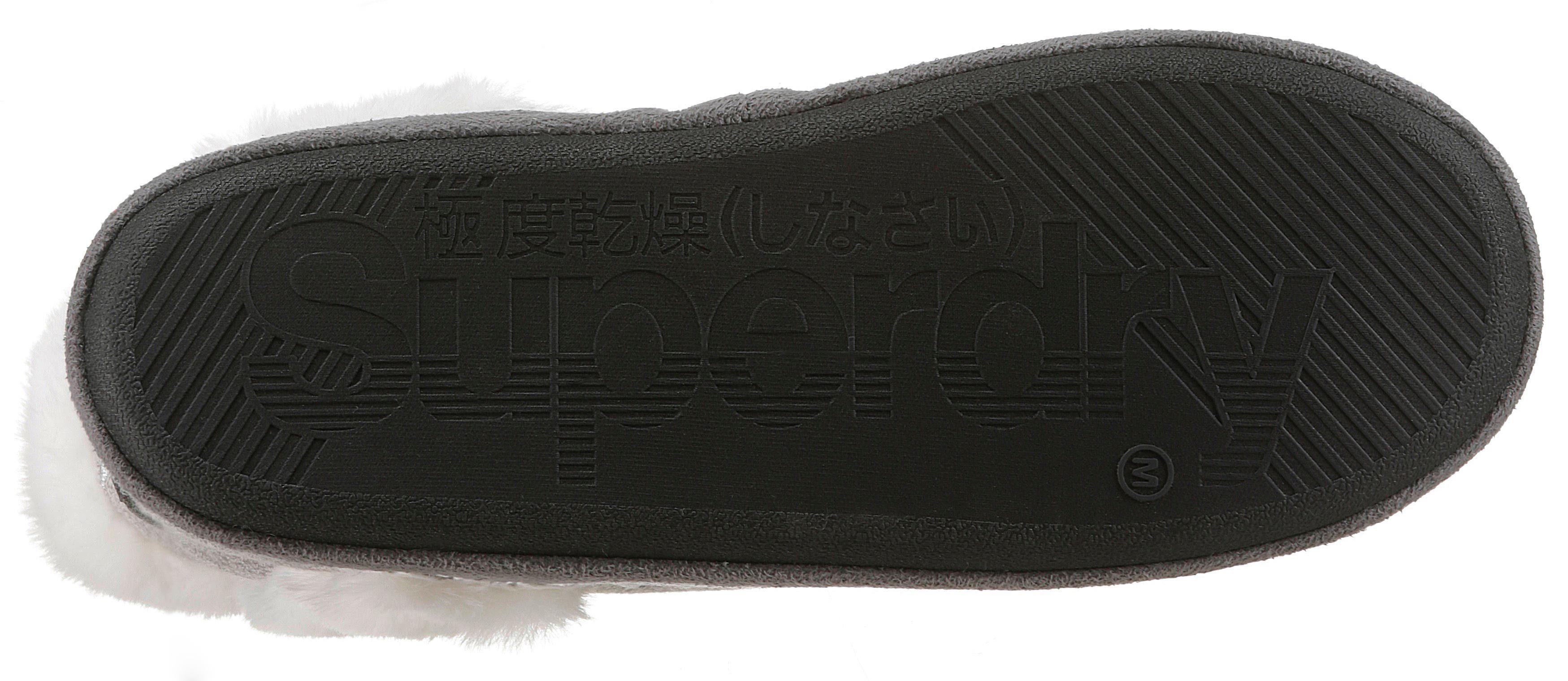 Trend Hüttenschuhe >7749 Superdry »Slipper Boot« Hüttenschuhe Trend mit süßer Sternchen-Stickerei ca4b2c