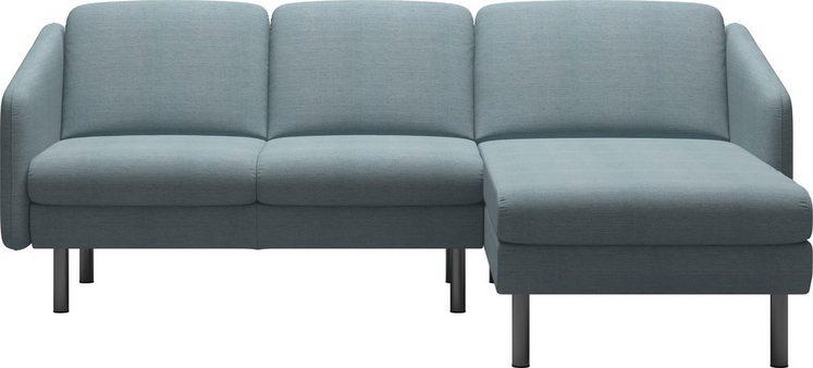 Stressless® 2-Sitzer »Eve«, mit Longseat, mit geraden Edelstahlfüßen in 2 Höhen