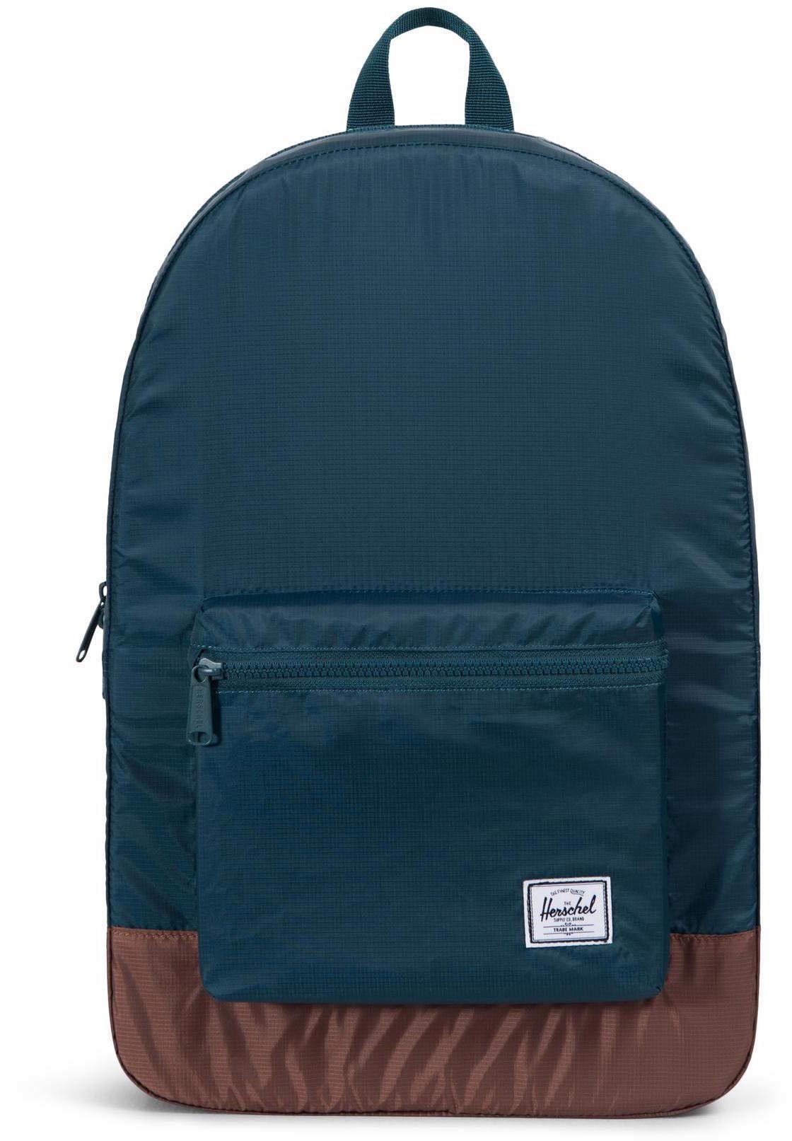 Herschel Rucksack, »Daypack Packable, Deep Teal/Tan Synthetic Leather«