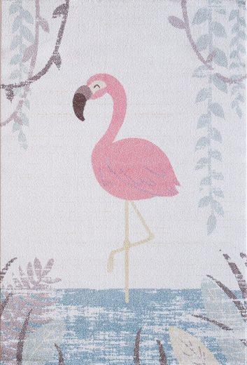 Kinderteppich »Luna Kids 4610«, Sanat, rechteckig, Höhe 12 mm, Flamingo Design, Kurzflor