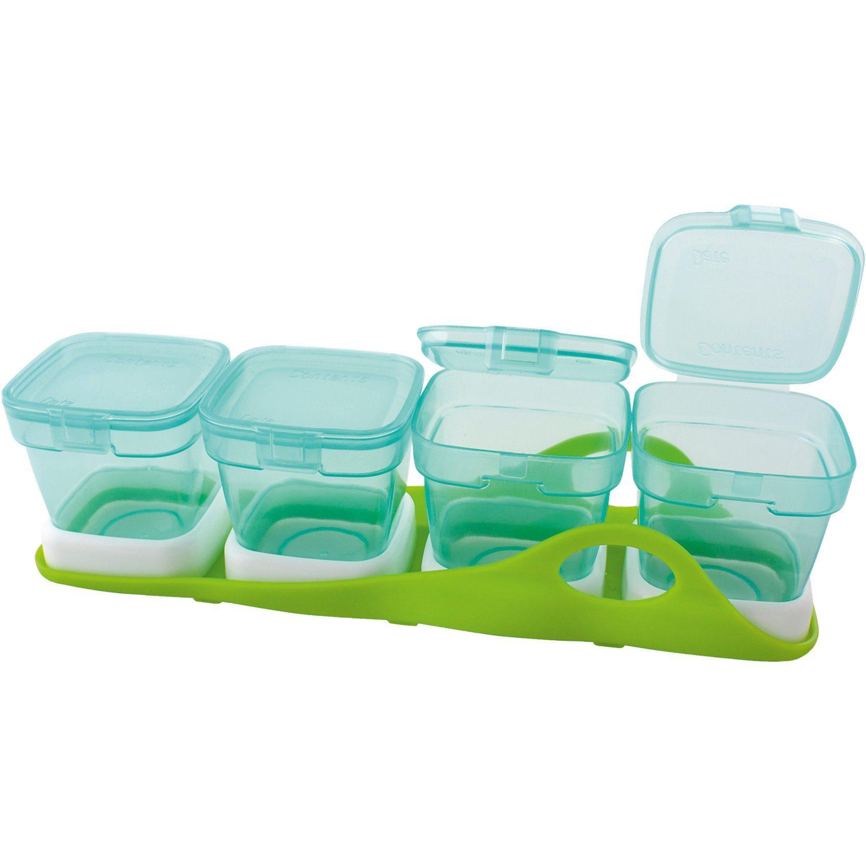MAM Aufbewahrungsbecher für Babynahrung, Multi-Boxen, 4-in-1