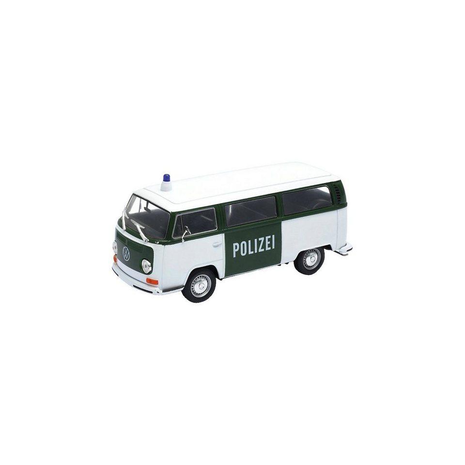 Welly Modellauto 72er VW Bus T2 Polizei 1:24