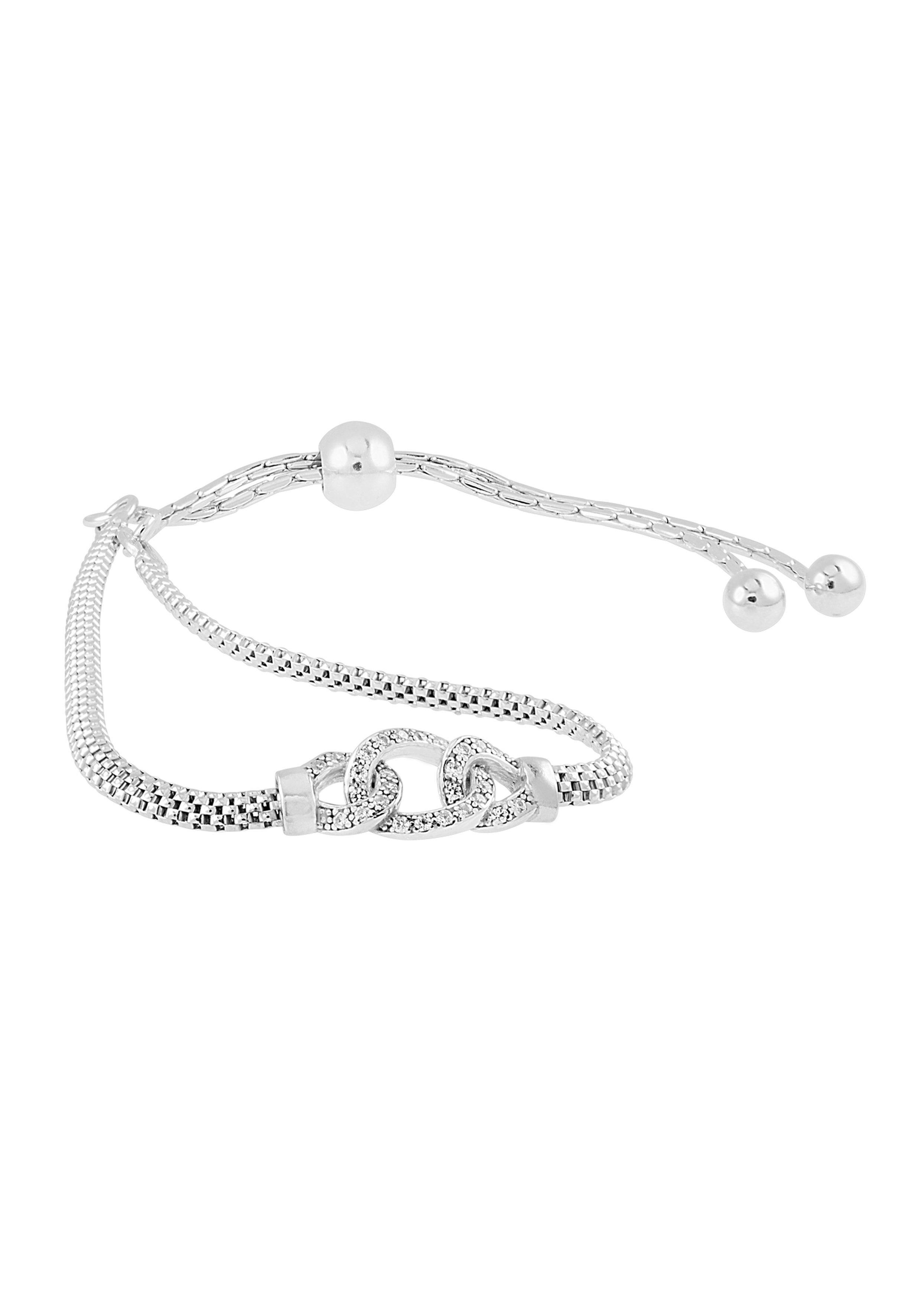 Bella Donna Jewels Silber-Armband mit verschlungenem Element