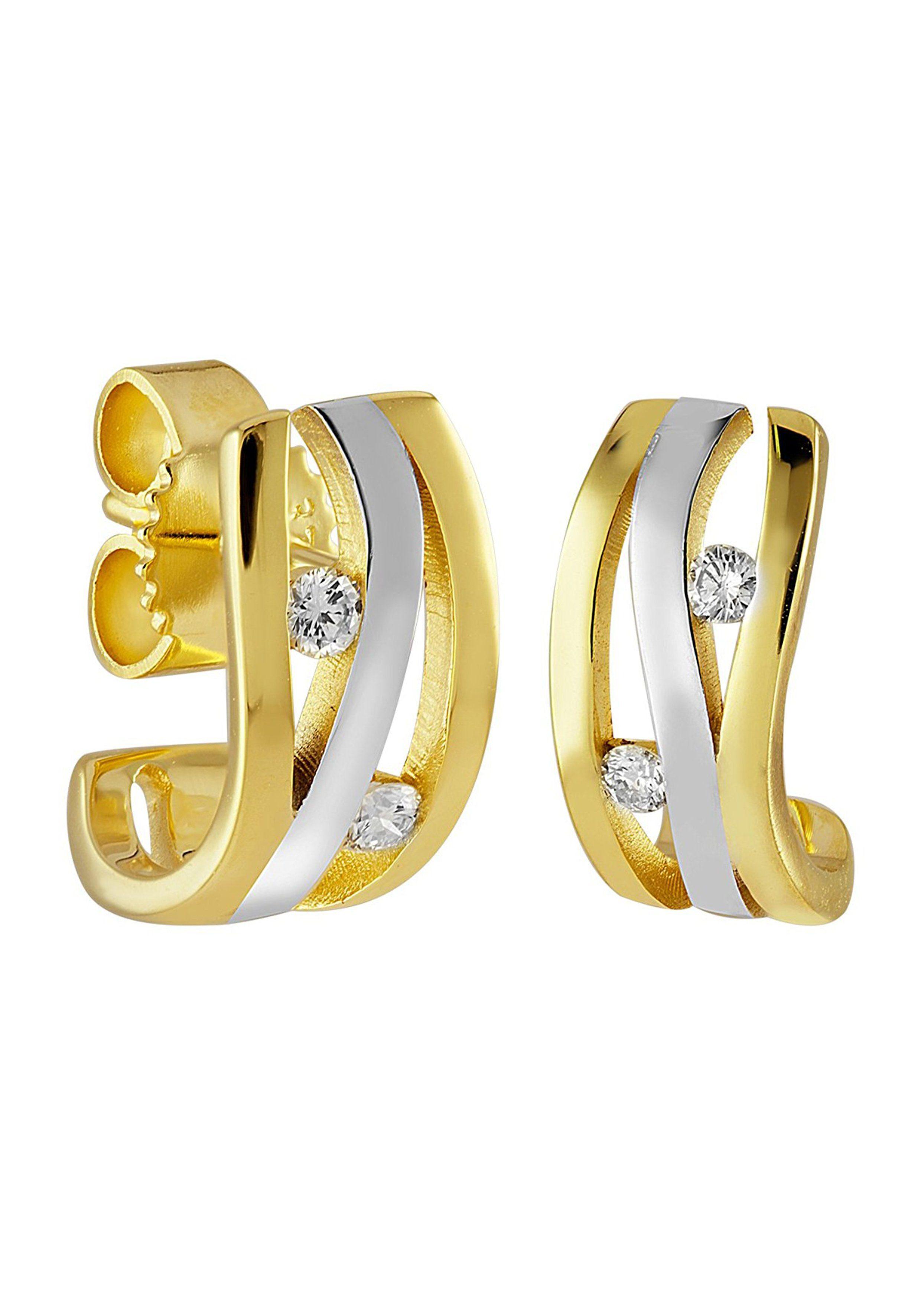 Diamond Line Diamantohrstecker mit 4 Diamanten in elegantem Design