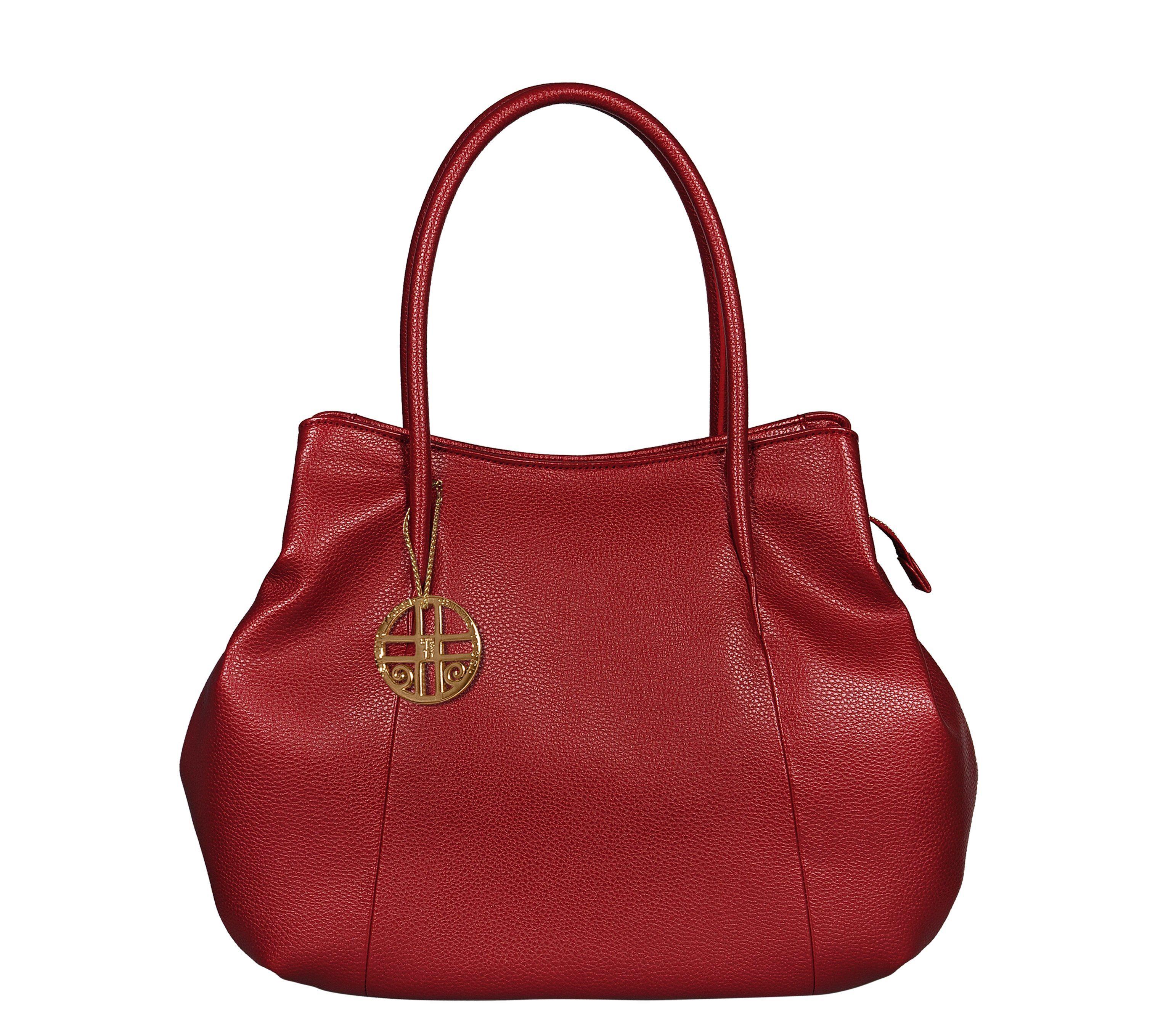 Silvio Tossi Handtasche mit Spezialschutzschicht und Markenanhänger