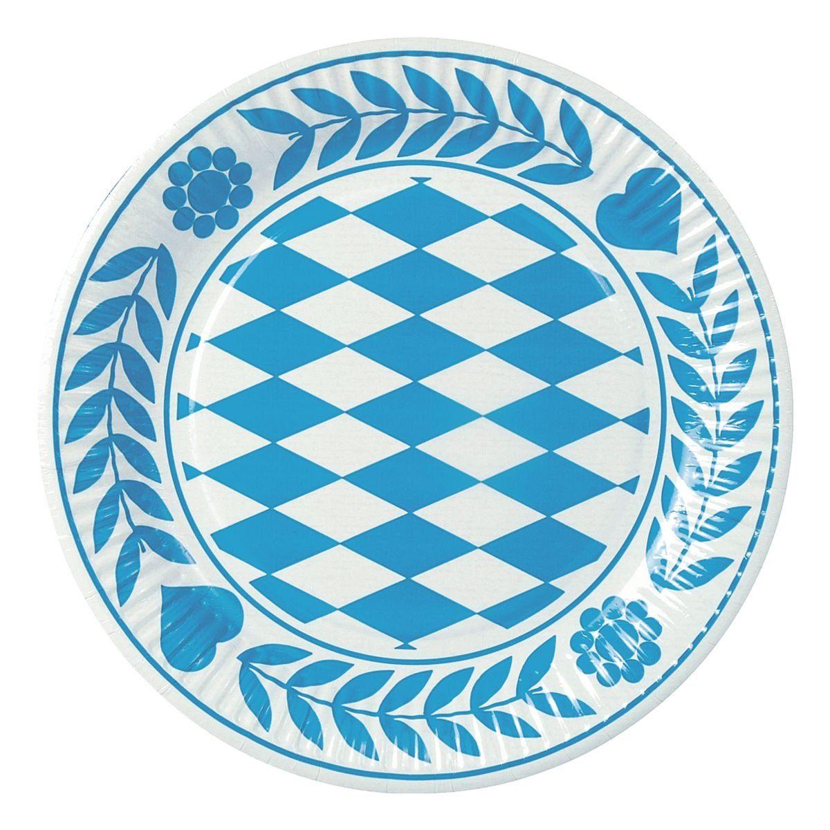 PAPSTAR Einweg-Teller »Bayrisch Blau«