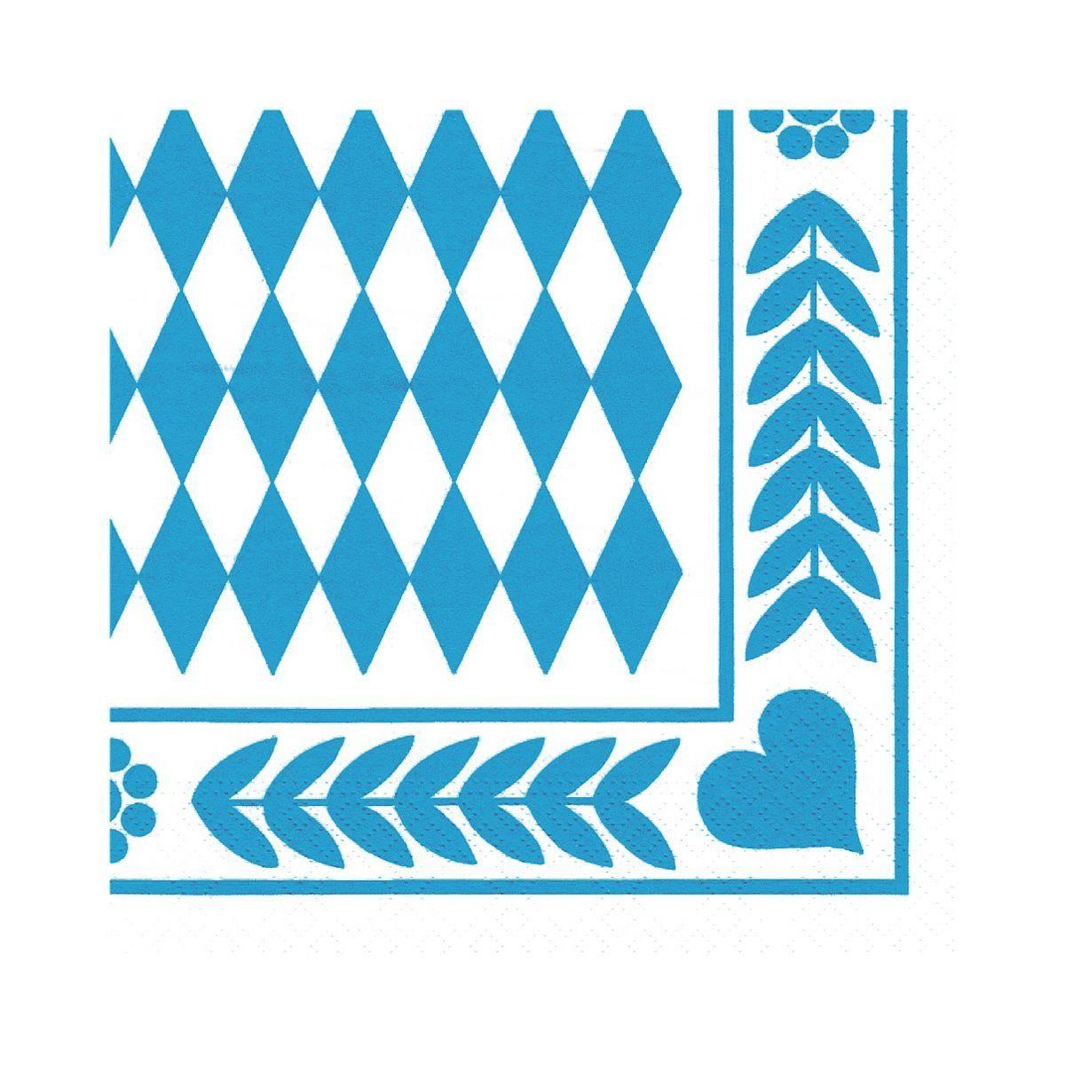 PAPSTAR Servietten »Bayrisch Blau«