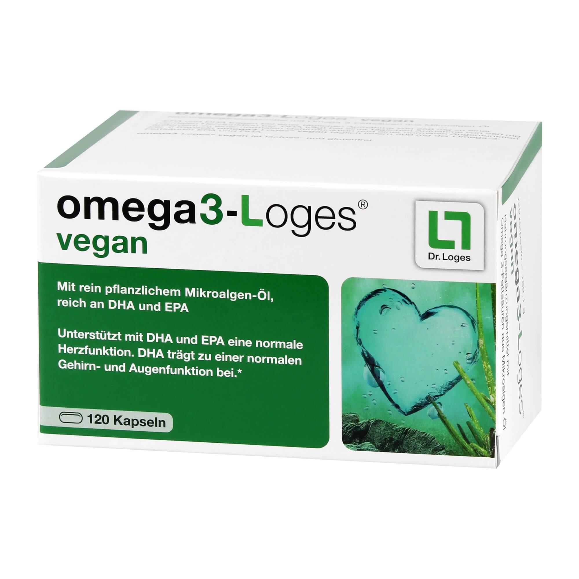 Omega 3-Loges Vegan Kapseln, 120 St