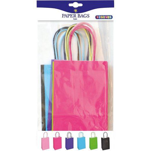 Playbox Papiertüten 13 x 21 cm farbig, 6 Stück
