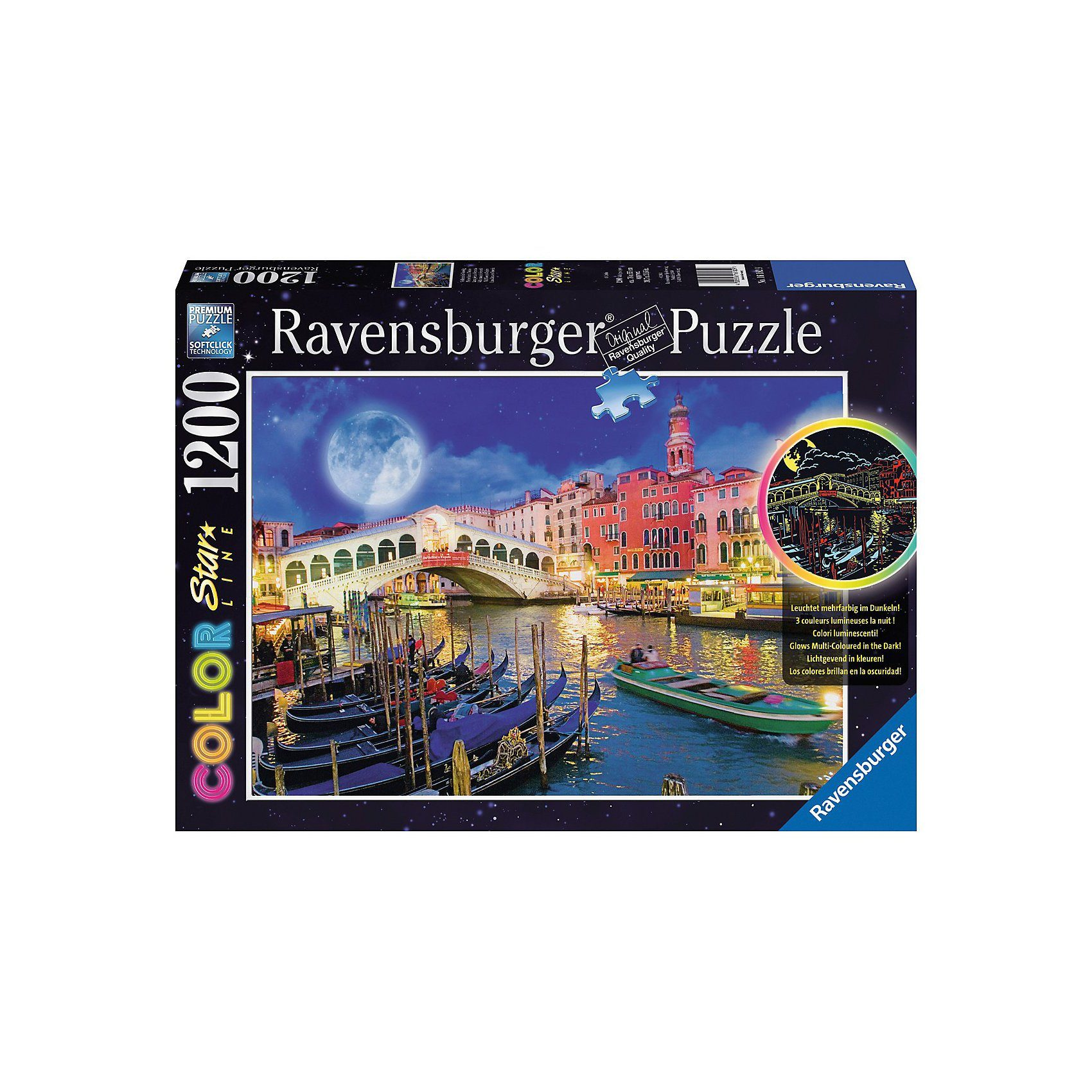 Ravensburger Puzzle Color Starline Vollmond in Venedig 1200 Teile