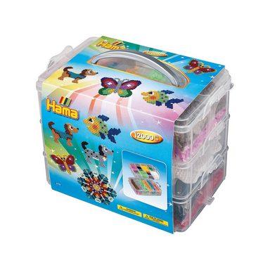 Hama Perlen HAMA 6751 Bügelperlen-Sortierbox mit 12.000 midi-Perlen & Zu