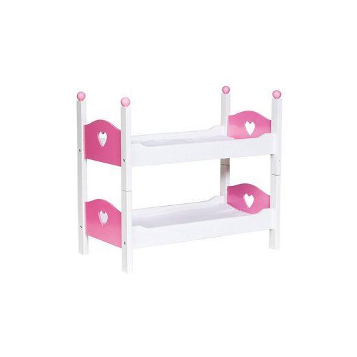 Glow2B Puppen-Doppelbett mit Herz