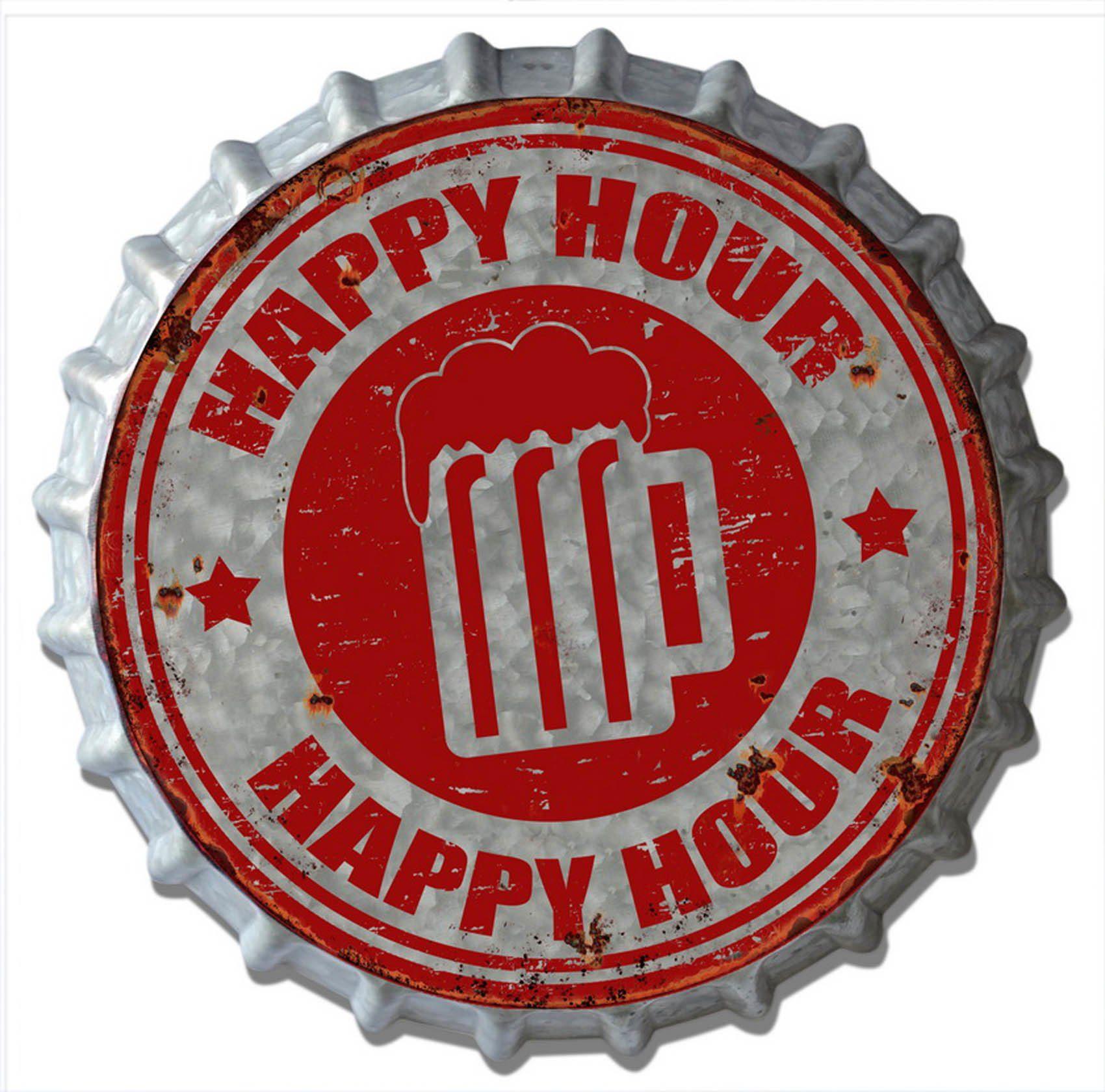 HTI-Line Blechschild »Happy«
