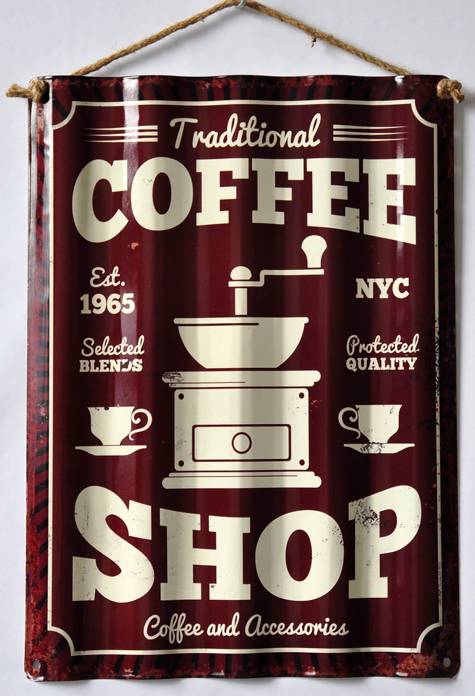 HTI-Line Blechschild »Coffee«