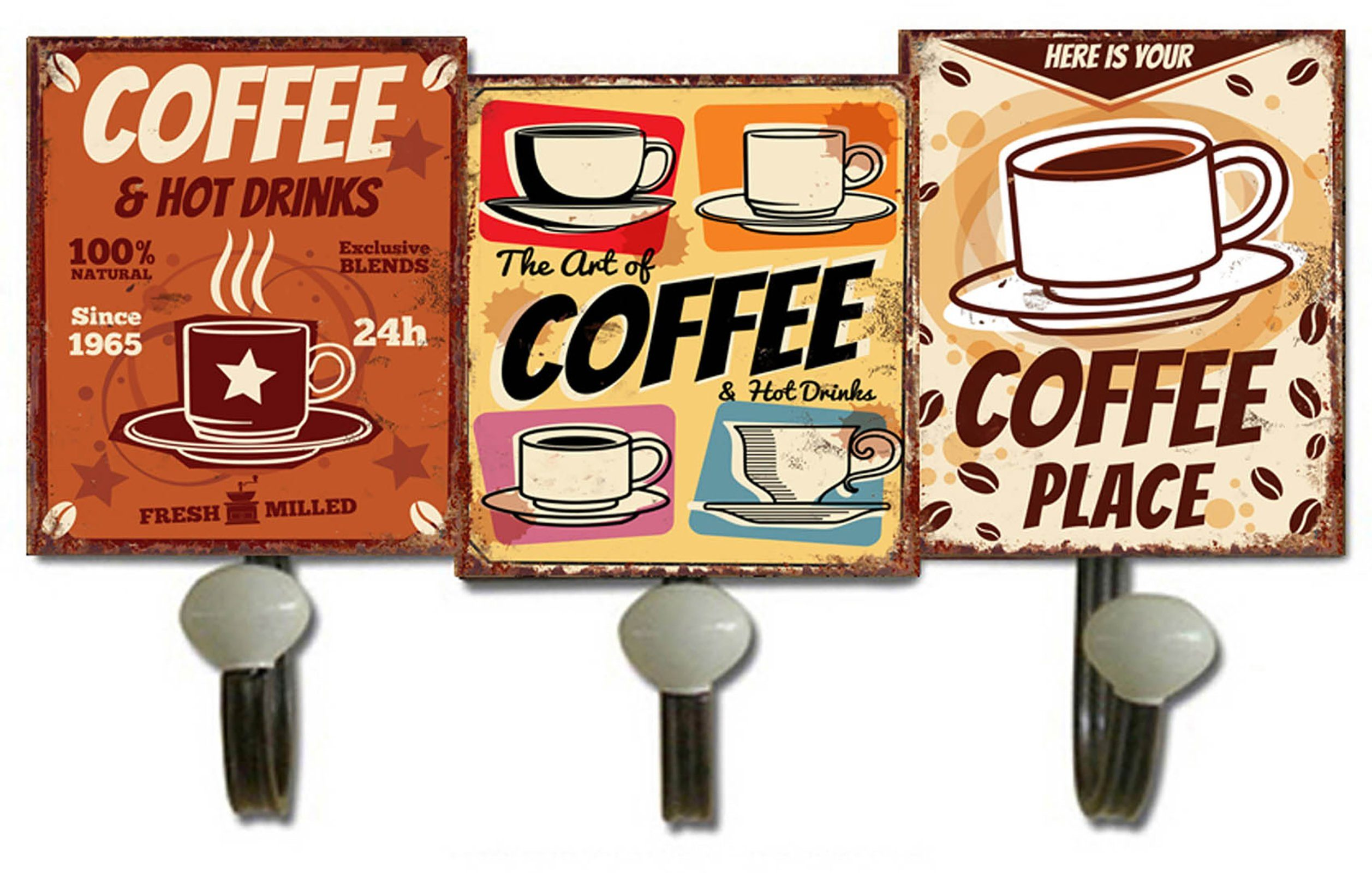 HTI-Line Garderobenhaken »Coffee«