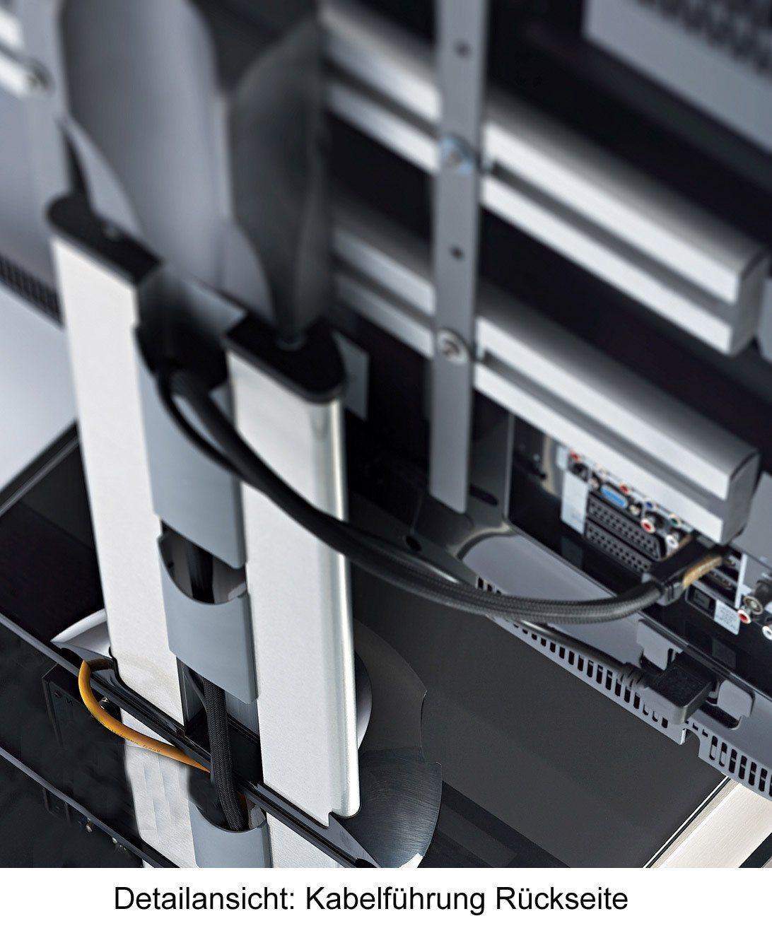VCM TV-Standfuß ´´Bilano Silber´´ | Wohnzimmer > TV-HiFi-Möbel > Ständer & Standfüße | Aluminium - Sicherheitsglas - Schwarzglas | VCM