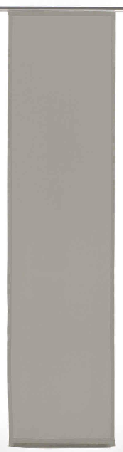 Schiebegardine »Flächenvorhang Stoff Basic«, GARDINIA, Klettband (1 Stück), HxB: 245x60
