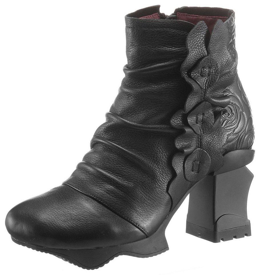 LAURA VITA Plateaustiefelette im extravaganten Design   Schuhe > Stiefeletten > Plateaustiefeletten   Schwarz   Leder   LAURA VITA