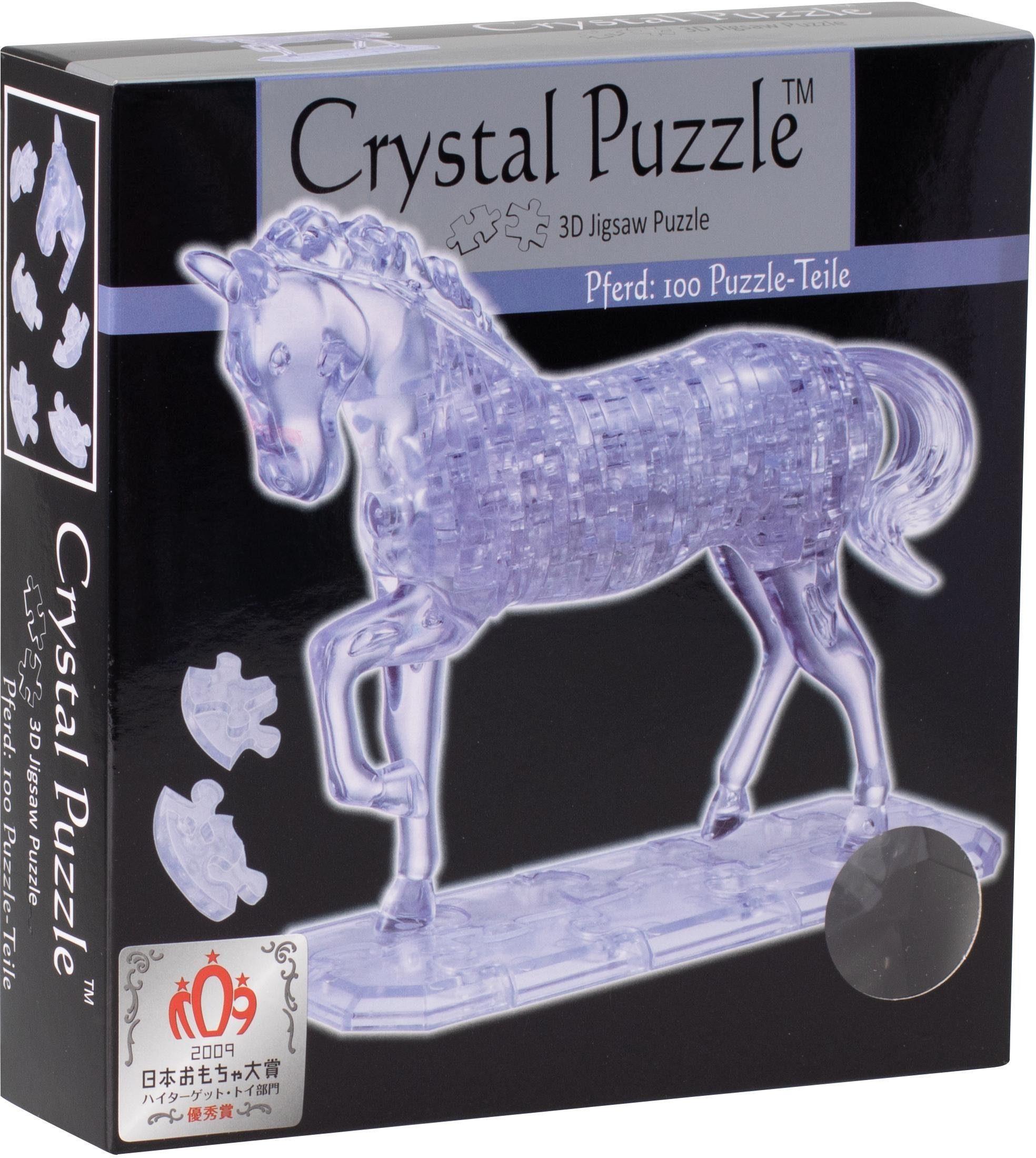 Crystal Puzzle® 3D-Puzzle, 100 Teile, »Pferd transparent«