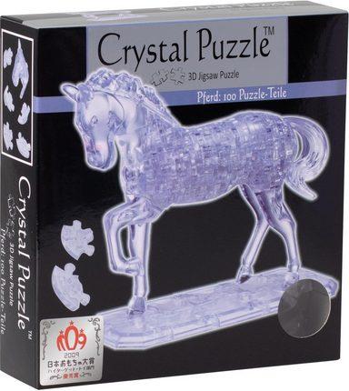 crystal puzzle 3d puzzle 100 teile pferd transparent. Black Bedroom Furniture Sets. Home Design Ideas