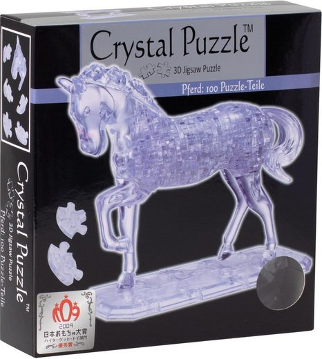 HCM KINZEL 3D-Puzzle »Crystal Puzzle, Pferd transparent«, 100 Puzzleteile