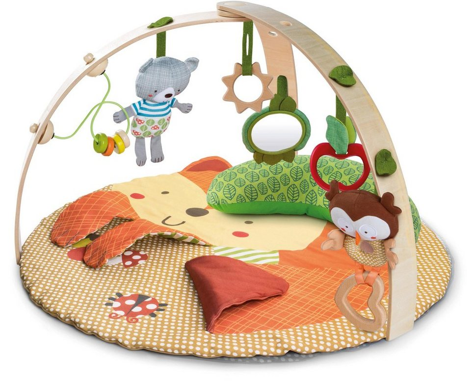 bright starts spieldecke mit spielbogen fox friends activity gym online kaufen otto. Black Bedroom Furniture Sets. Home Design Ideas