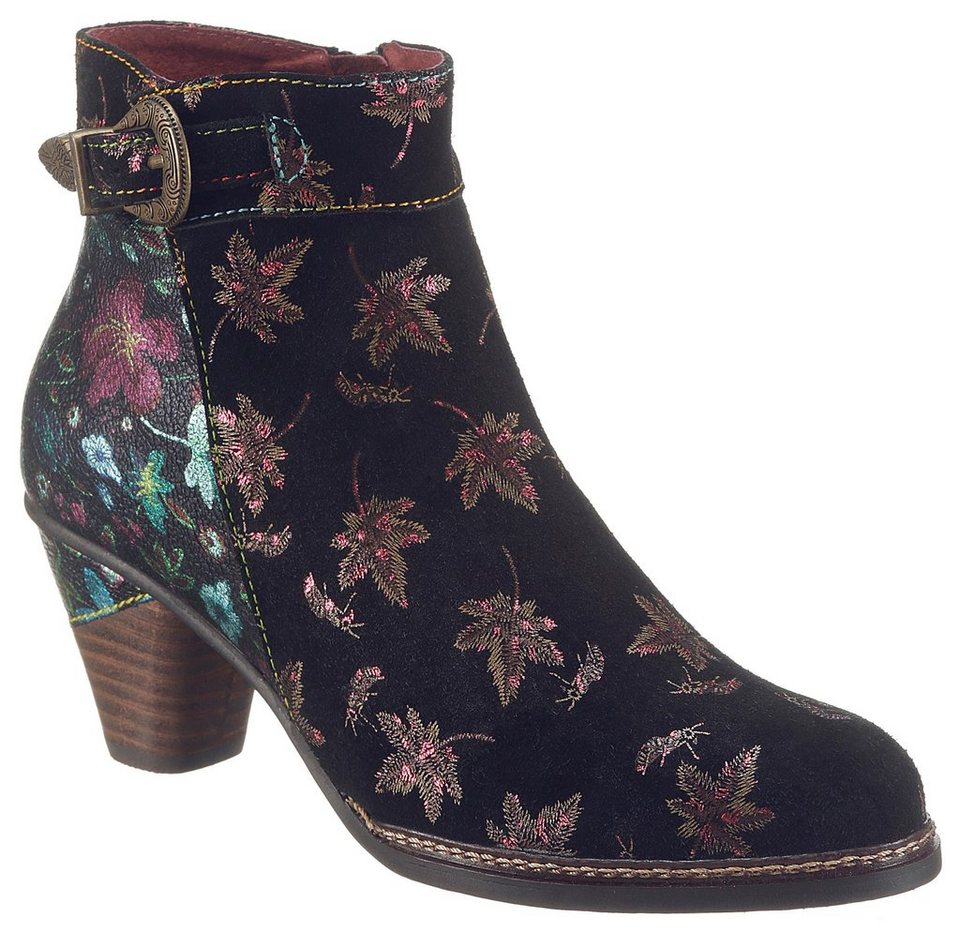 8179fc007ec2cf LAURA VITA »Alizee« Stiefelette mit buntem Blütenprint online kaufen ...