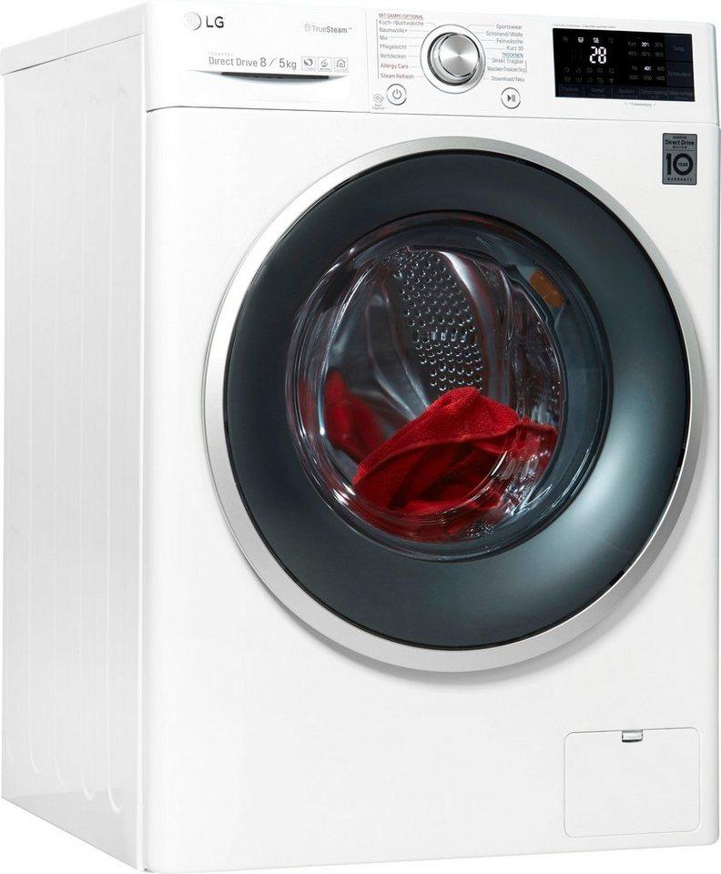 LG Waschtrockner, 8 kg/5 kg, 1400 U/Min
