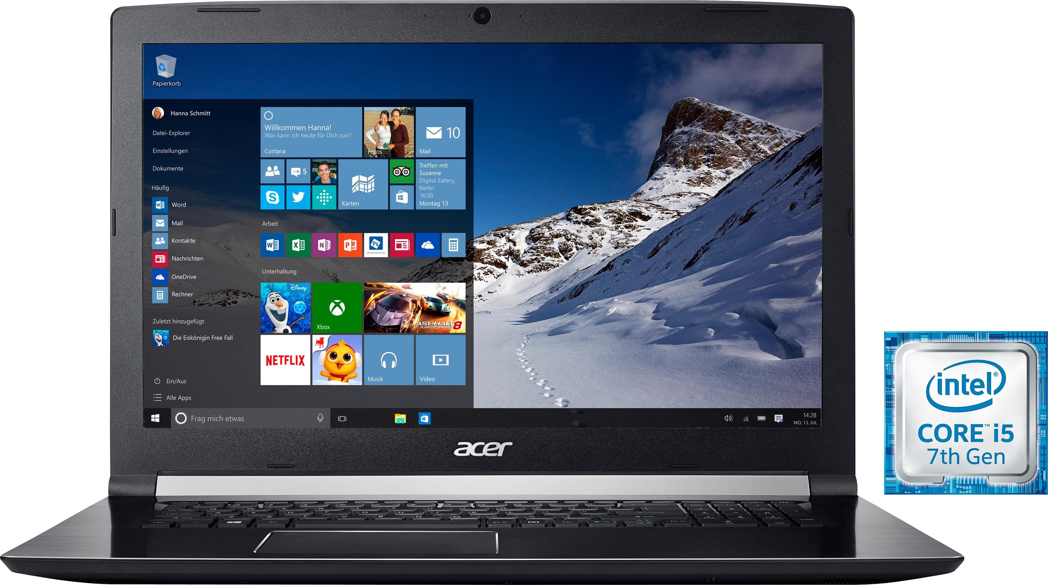 Acer A717-71G-55K6 Notebook (43,94 cm/17,3 Zoll, Intel Core i5, 1000 GB HDD, 256 GB SSD, inkl. Office 365 Personal (ESD)