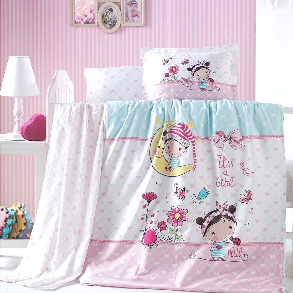 Babybettwäsche Bellini Sei Design Mit Einem Kleinen Mädchen