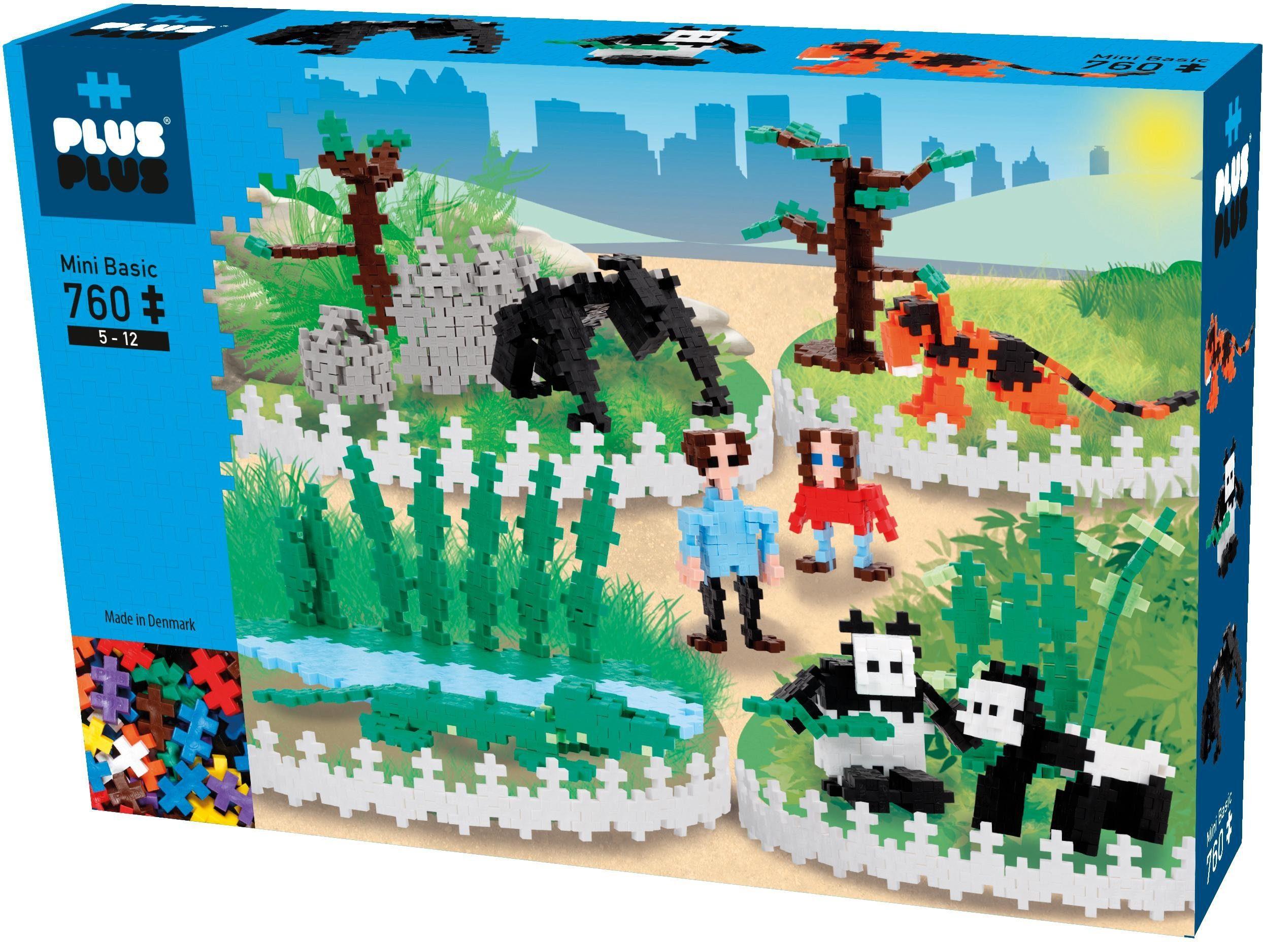 Plus-Plus 3D-Puzzle, 760 Teile, »Mini Basic Zoo«