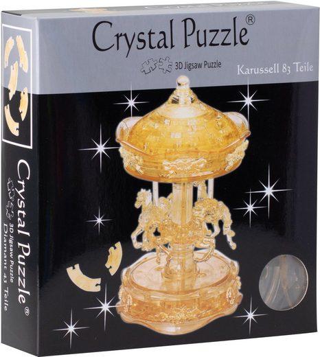 HCM KINZEL 3D-Puzzle »Crystal Puzzle, Karussel transparent«, 83 Puzzleteile