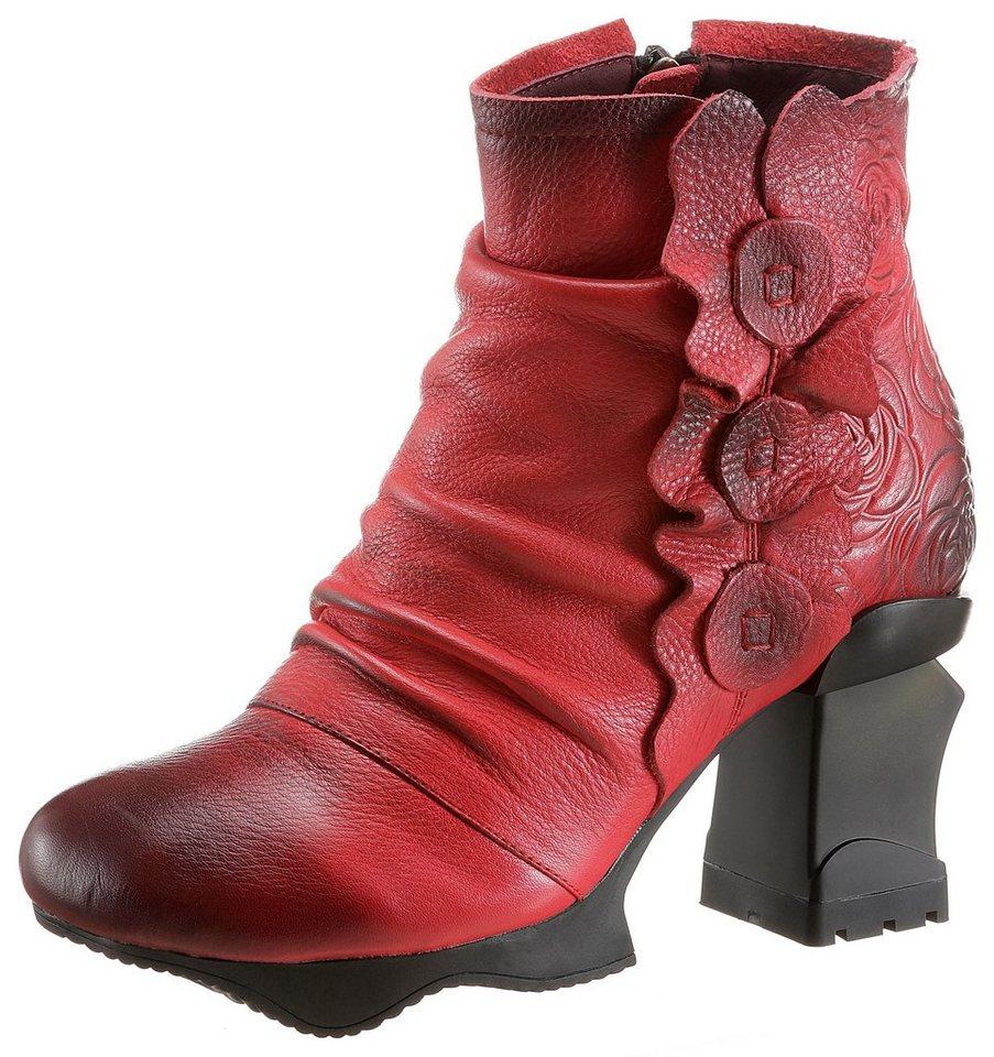 LAURA VITA Plateaustiefelette im extravaganten Design   Schuhe > Stiefeletten > Plateaustiefeletten   Rot   LAURA VITA