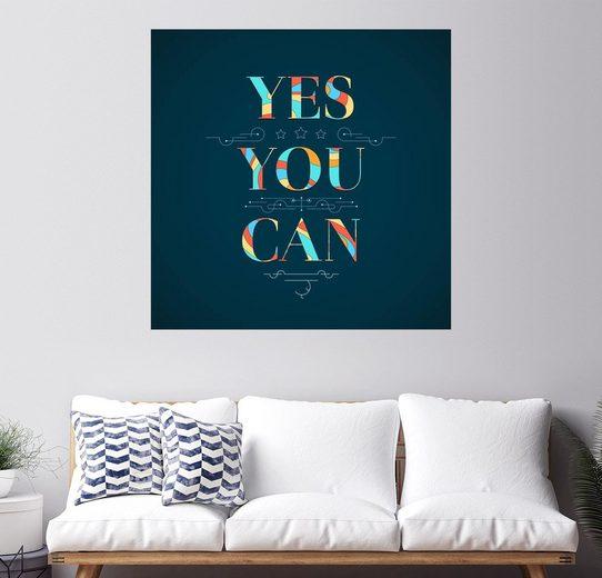 Posterlounge Wandbild - Typobox »Du kannst es!«