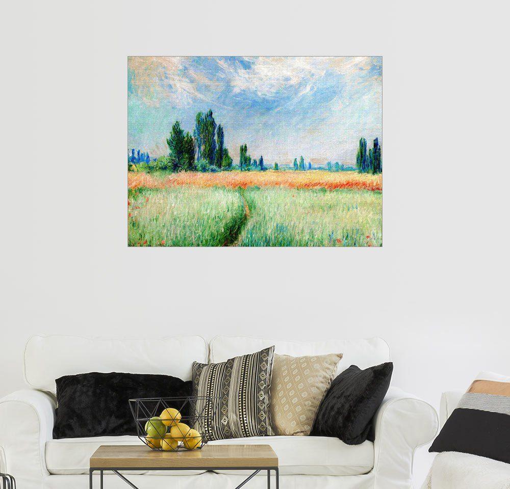 Posterlounge Wandbild - Claude Monet »Weizenfeld«