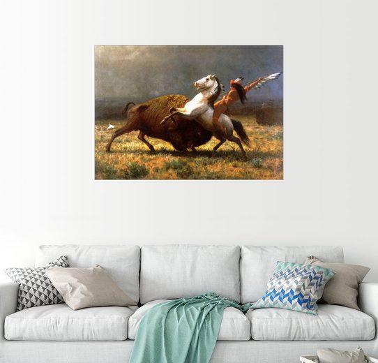 Posterlounge Wandbild - Albert Bierstadt »Der letzte Büffel«