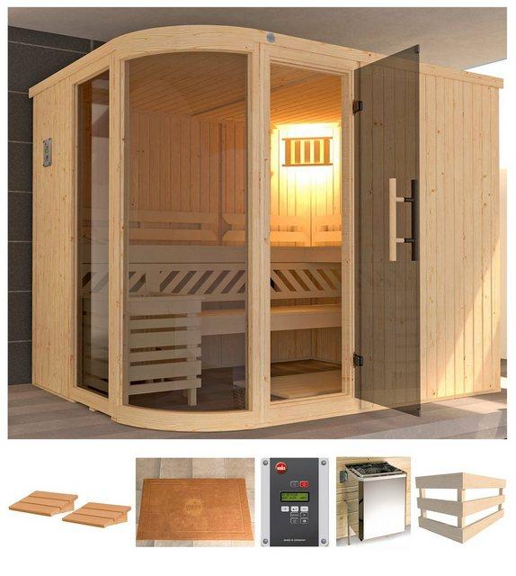 Saunen und Zubehör - weka Sauna »Sara 2«, BxTxH 244 x 194 x 199 cm, 68 mm, 9 kW Ofen mit ext. Steuerung  - Onlineshop OTTO
