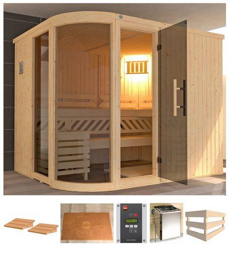 WEKA Sauna »Sara 2«, 244x194x199 cm, 9 kW Ofen mit ext. Steuerung