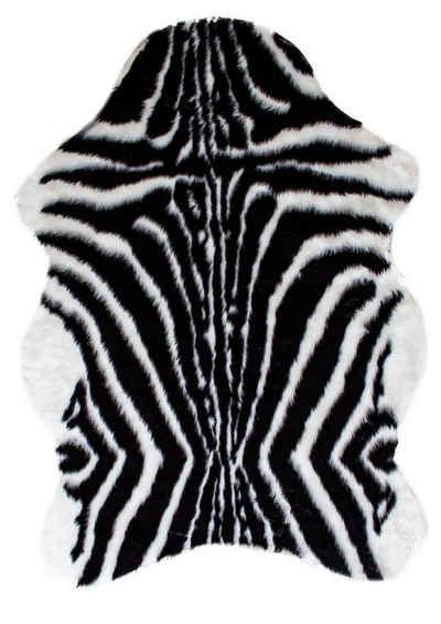 Teppich »Kunstfell- Zebera Schwarz weiß in 70 x 100 cm«, Mr. Ghorbani, Tierfell, Höhe 5 mm