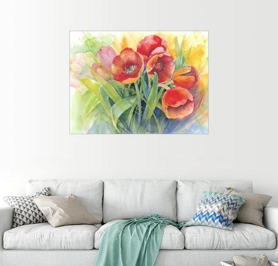 Posterlounge Wandbild - Eckard Funck »Tulpen Strauß«