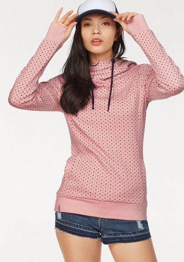 KangaROOS Kapuzensweatshirt mit überlappendem Kapuzen-Kragen