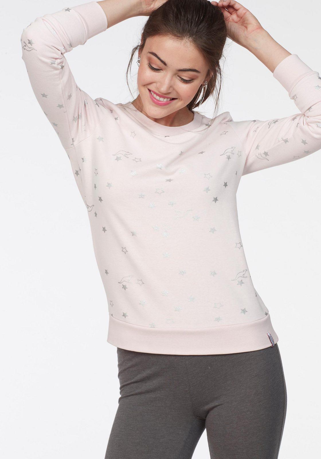 KangaROOS Sweatshirt im Allover-Metallic-Print mit Sternen