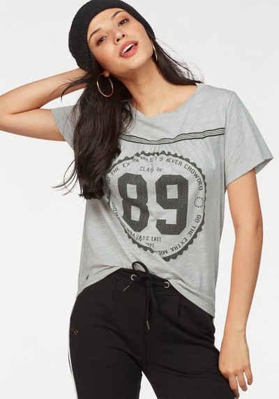 KangaROOS T-Shirt mit großem Front-Print und Raffung in Brusthöhe 878f659ad8