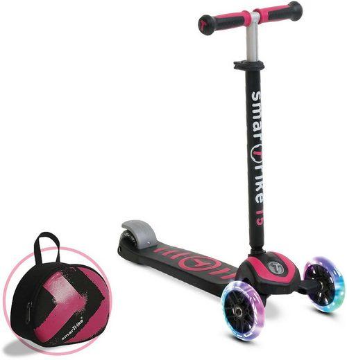 smarTrike® Dreiradscooter »T5, pink«, mit Federstahlbremse und T-Lock System