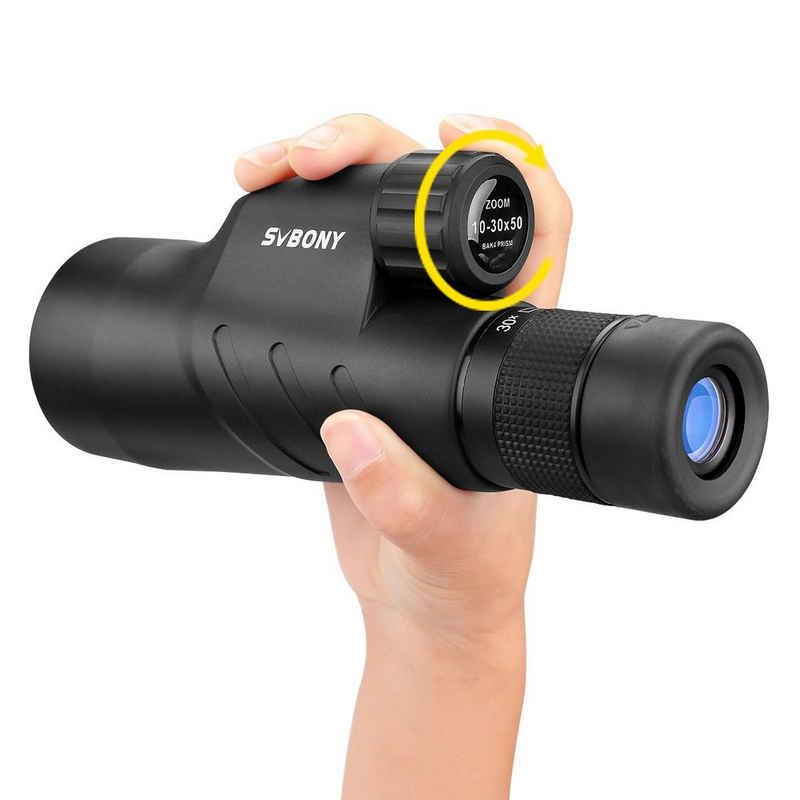 SVBONY »SVBONY 10-30x50mm Waterproof Monokular Fernrohr Ferngläser FMC Twist-up Eye cup« Fernrohr