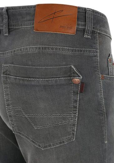 B.Bros 5-Pocket-Hose mit Doppeloberstoffbund