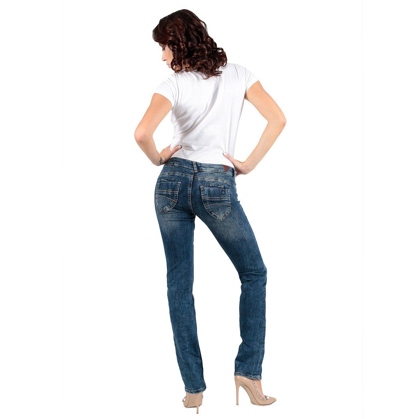 Miracle of Denim Jeanshose in Used-Optik