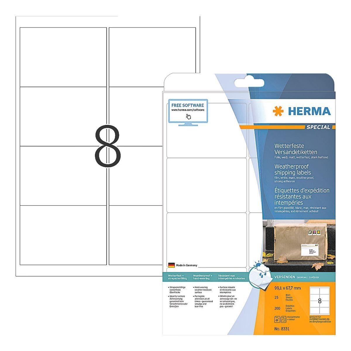 HERMA Versand Folien-Etiketten 200 Stück »Special«